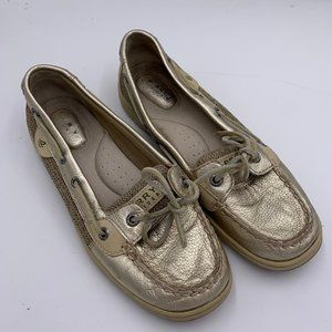Sperry Gold Brown Leather Boat Shoes